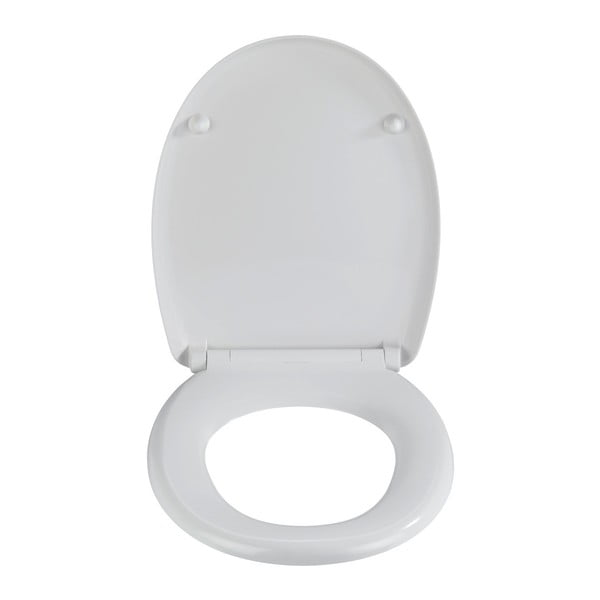 Šedé WC sedátko se snadným zavíráním Wenko Stella, 45 x 38 cm