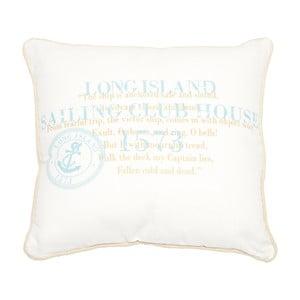 Polštář Long Island White, 40x40 cm