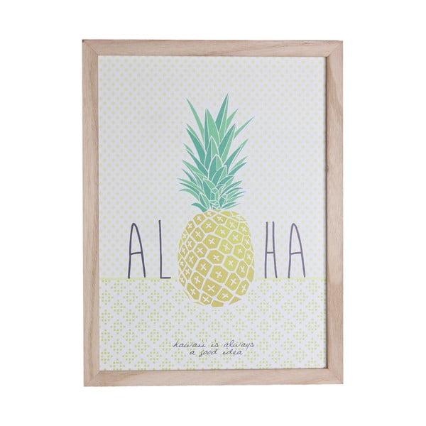 Dřevěný rámeček s tiskem Maiko Aloha