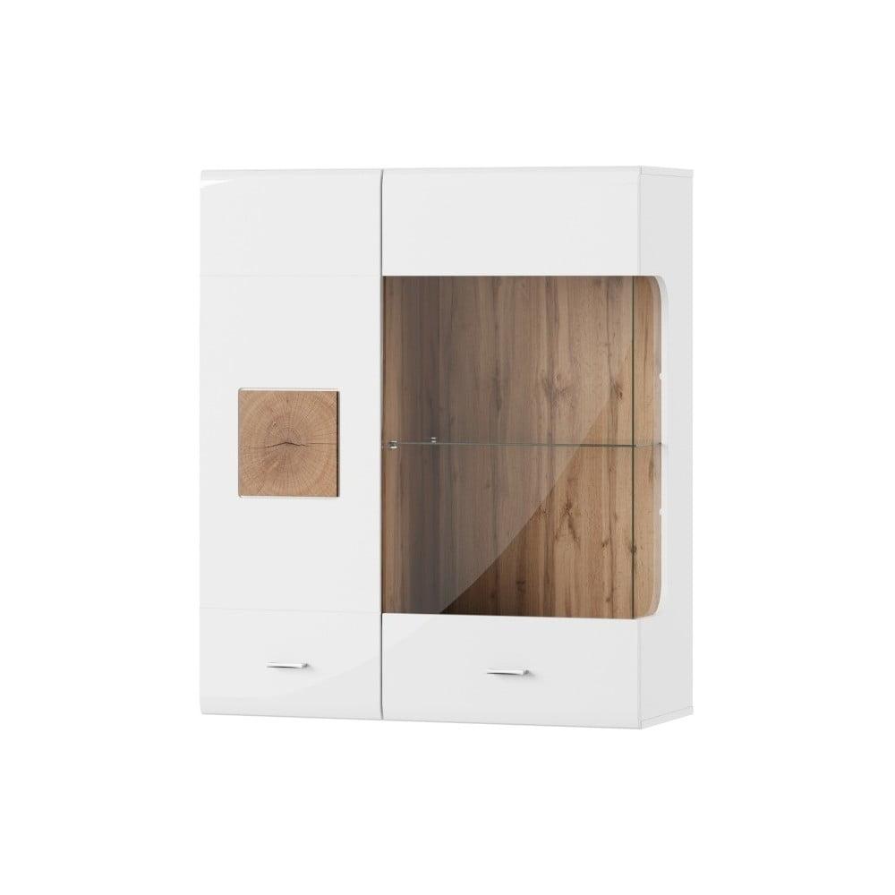 Bílá dvoudveřová vitrína Szynaka Meble Wood