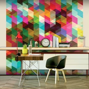Velkoformátová tapeta Artgeist Colourful Geometry, 300x231cm
