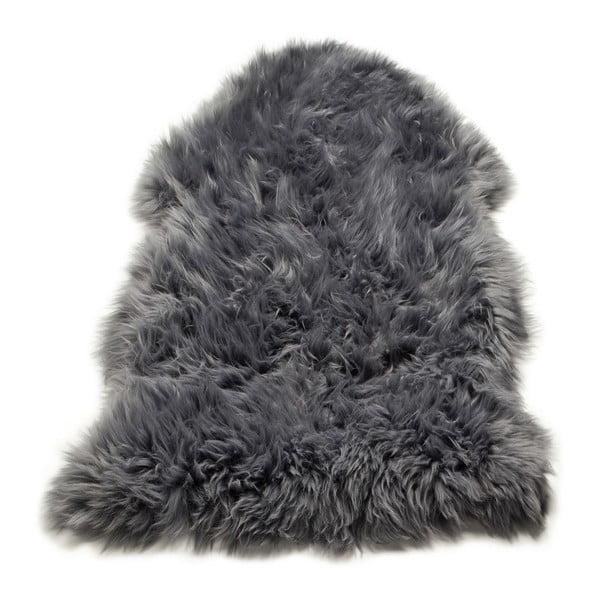 Koberec Single Sheepskin Grey, 100x100 cm