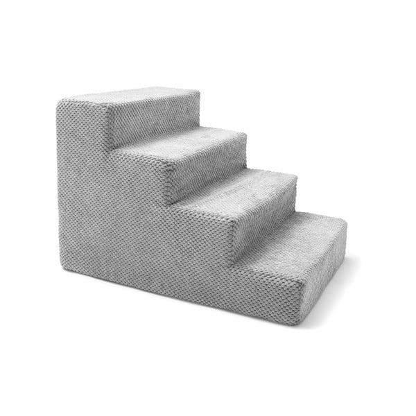 Světle šedé schody pro psy a kočky Marendog Stairs, 40 x 60 x 40 cm