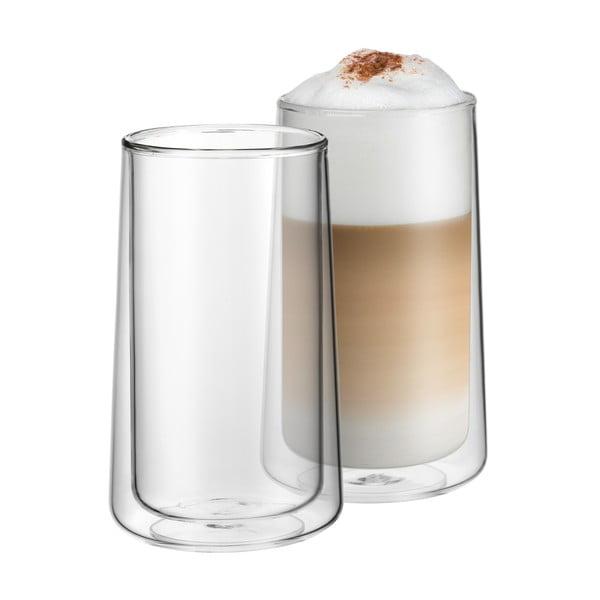 2 db duplafalú lattés pohárszett, magasság 13 cm - WMF