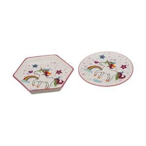 Sada 2 porcelánových talířků Unimasa Unicorn