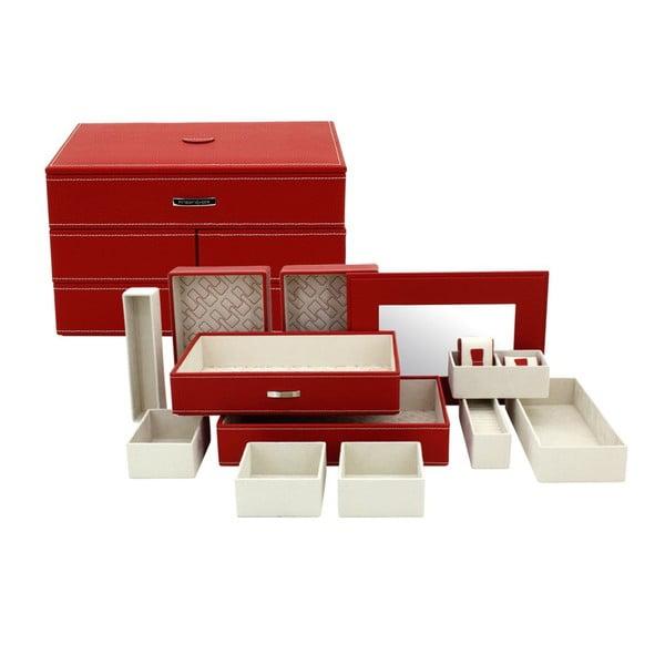 Šperkovnice Module Red, 30x21x18 cm