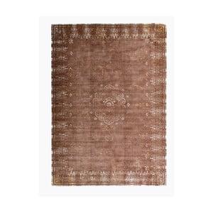 Hnědý koberec s příměsí bavlny Cotex Epoca, 140 x 200 cm