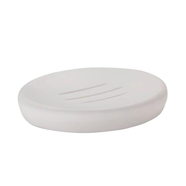 Bílá miska na mýdlo Zone Soft