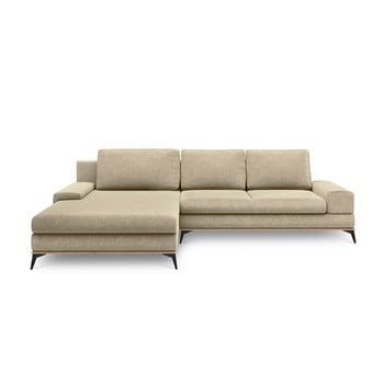 Canapea extensibilă tip colțar cu șezlong pe partea stângă Windsor & Co Sofas Planet, bej de la Windsor & Co Sofas