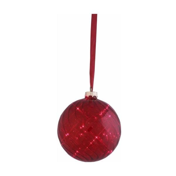 Svítící koule Turned Red, 12 cm