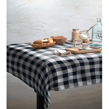 Față de masă Linen Couture Blue Vichy, 140 x 200 cm imagine