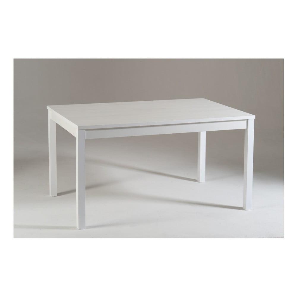 Bílý dřevěný rozkládací jídelní stůl Castagnetti Top, 140 cm