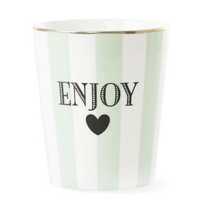 Keramický hrnek Miss Étoile Enjoy Stripe Aqua Green
