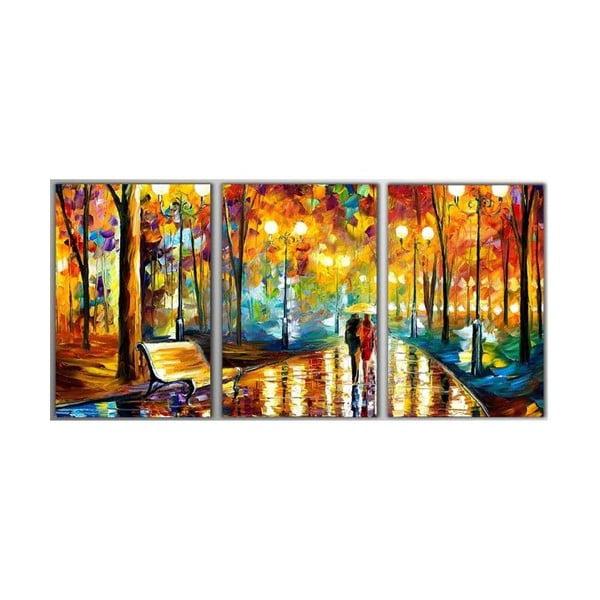 3dílný obraz Art Park, 45x90 cm