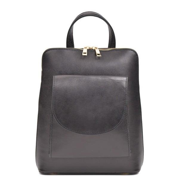 Čierny dámsky kožený batoh Anna Luchini Molly