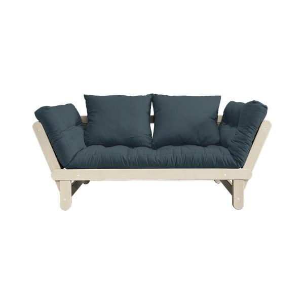 Canapea extensibilă Karup Design Beat Natural, albastru petrol