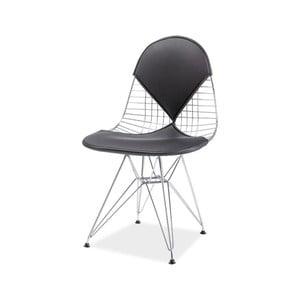 Jídelní židle z chromované oceli a ekokůže Signal Intel