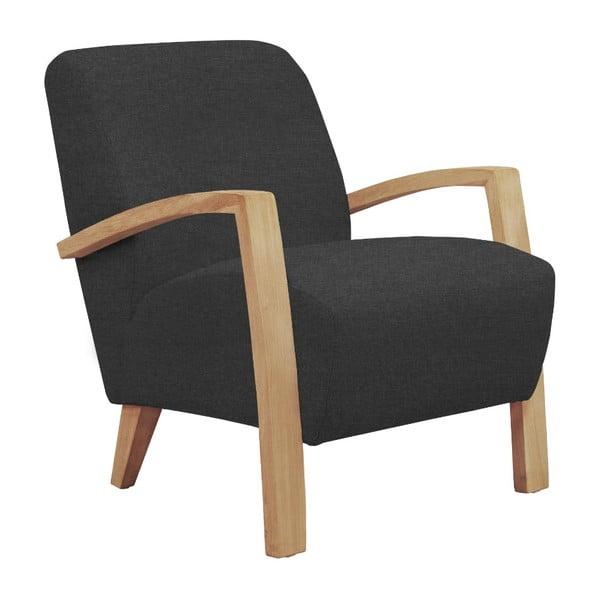 Ciemnoszary fotel z jasnymi nogami Windsor & Co Sofas Luna