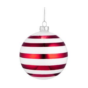 Červeno-bílá vánoční závěsná ozdoba Butlers, ⌀ 8 cm