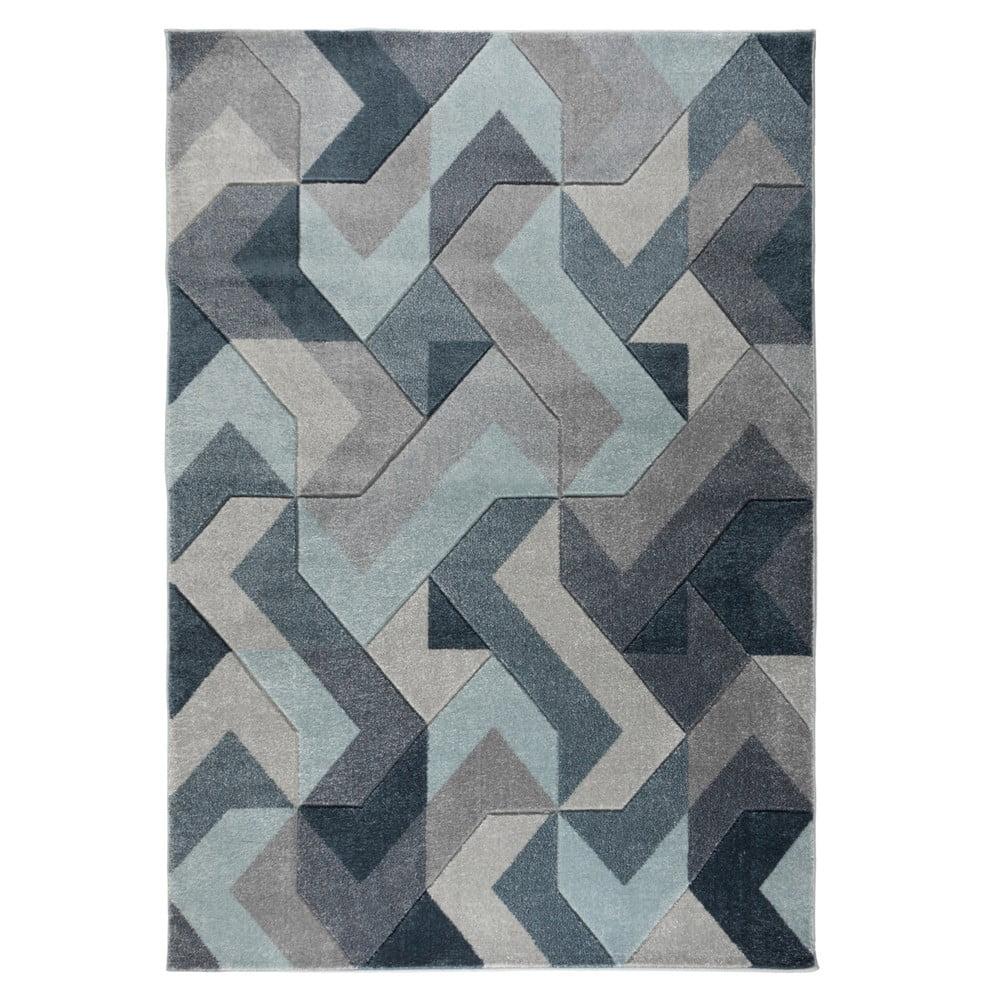 Modro-šedý koberec Flair Rugs Aurora, 200 x 290 cm