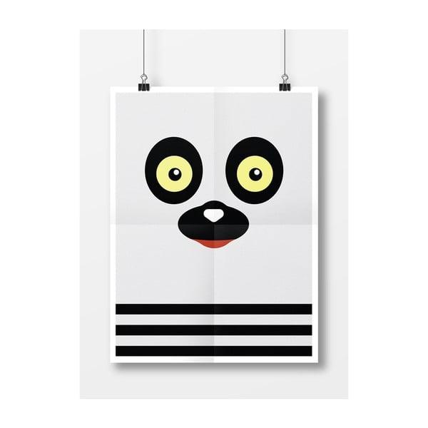 Plakát Lemur, A4