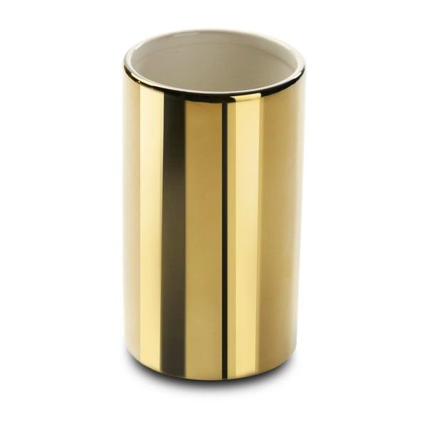 Keramický stojan na kartáčky ve zlaté barvě Versa