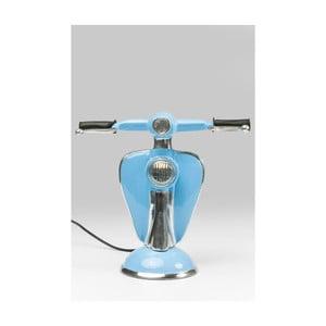 Modrá stolní LED lampa ve tvaru skútru Kare Design Scooter