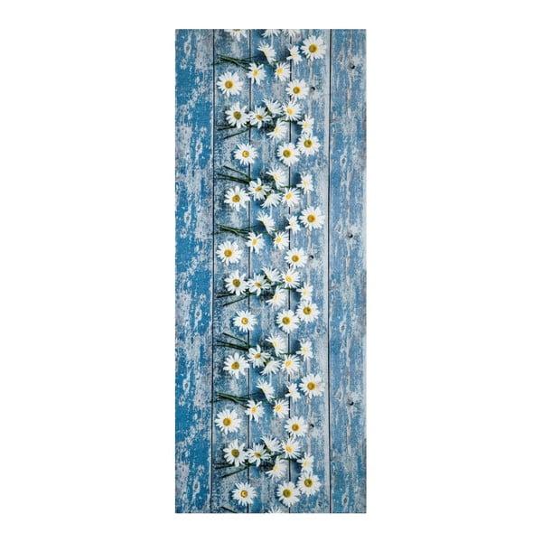 Modrý vysoce odolný koberec Webtappeti Camomilla, 58x115cm