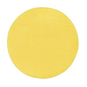 Žlutý koberec Hanse Home, ⌀ 133 cm