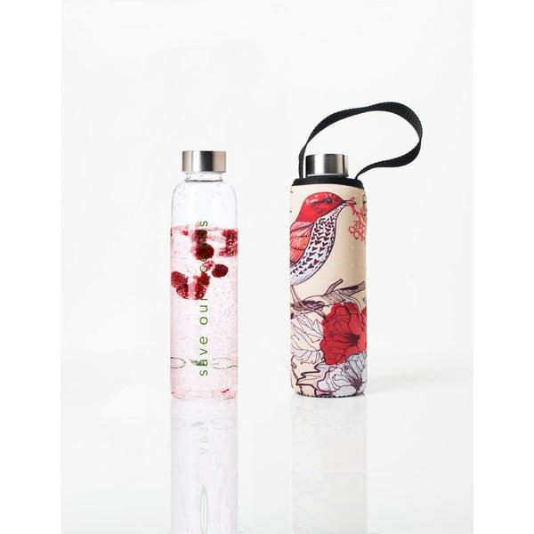 Cestovní lahev z borosilikátového skla s obalem BBBYO Bird, 570 ml