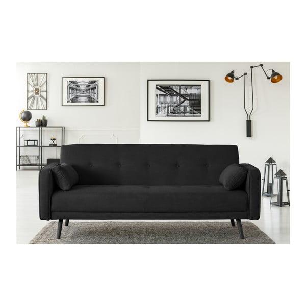 Černá třímístná rozkládací pohovka Cosmopolitan Design Bristol