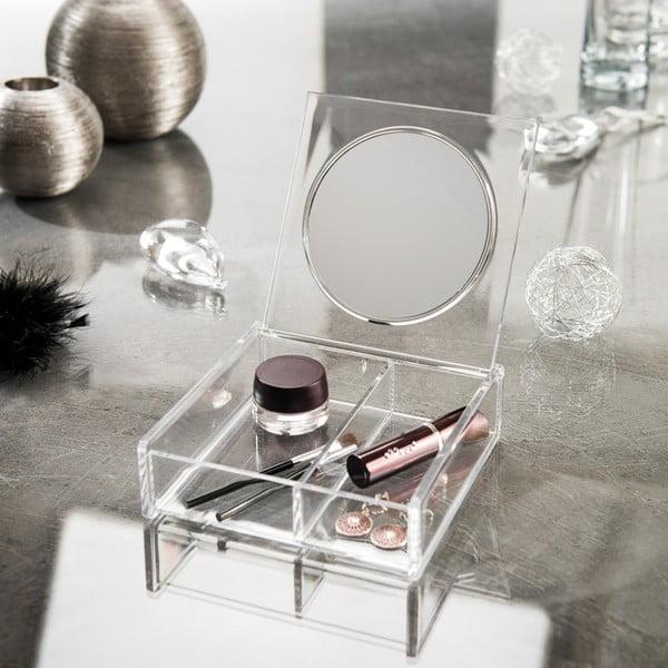 Organizator pentru cosmetice cu oglindă Compactor Nice