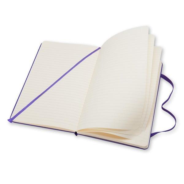 Malý fialový Zápisník Moleskine Hard, linkovaný