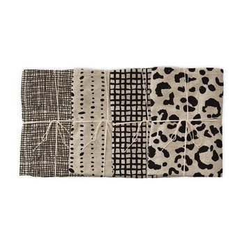 Set 4 șervețele textile Linen Couture Leopard, lățime 40 cm imagine