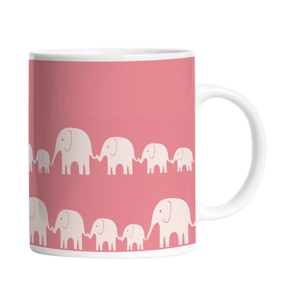 Keramický hrnek Elephant Family, 330 ml