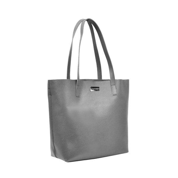Kožená kabelka Amande, tmavě černá