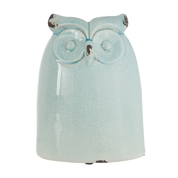 Dekorace Azure Owl, 28 cm