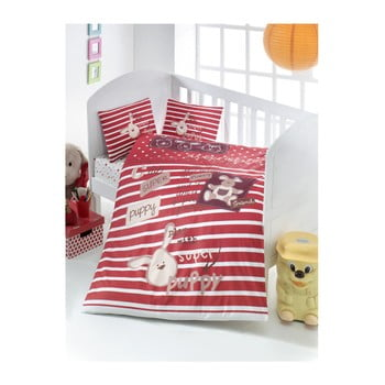Lenjerie de pat din bumbac pentru copii Puppy 100 x 150 cm