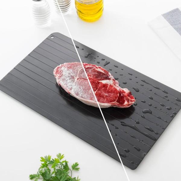 Černý tác pro rozmražování Innovagoods, 35x20,5cm