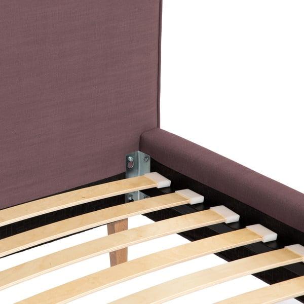 Fialová postel Vivonita Kent Linen, 200x160cm