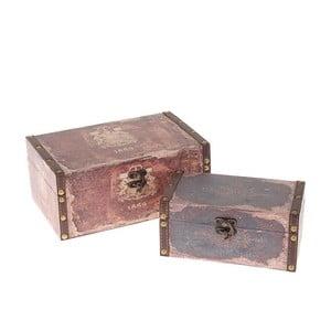 Sada 2 krabic Brown Canvas