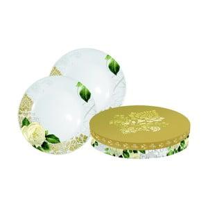 Sada 2 dezertních porcelánových talířů PPD Gold Rose