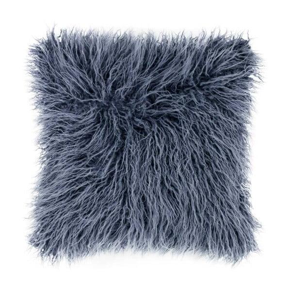 Pernă pufoasă Tiseco Home Studio Mohair, 45x45cm, albastru