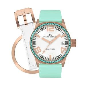 Dámské hodinky Marc Coblen s páskem a kroužkem navíc P95