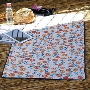 Plážová deka Cream Navy, 70x150 cm