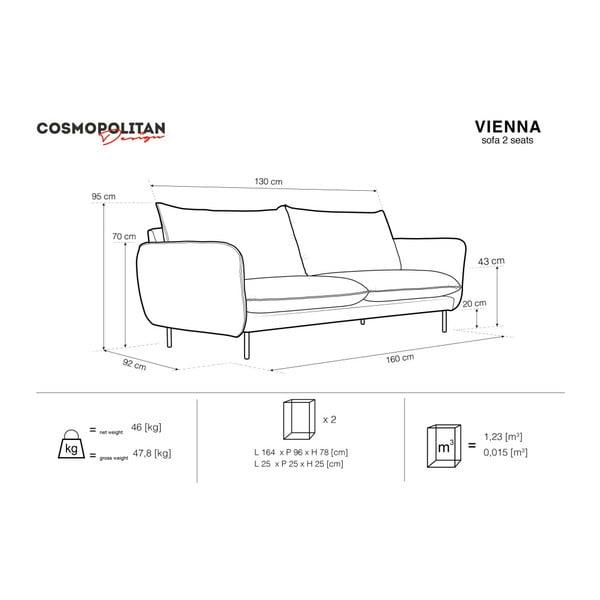 Béžová dvoumístná pohovka Cosmopolitan Design Vienna