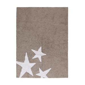 Béížový bavlněný ručně vyráběný koberec Lorena Canals Three Stars, 120x160cm