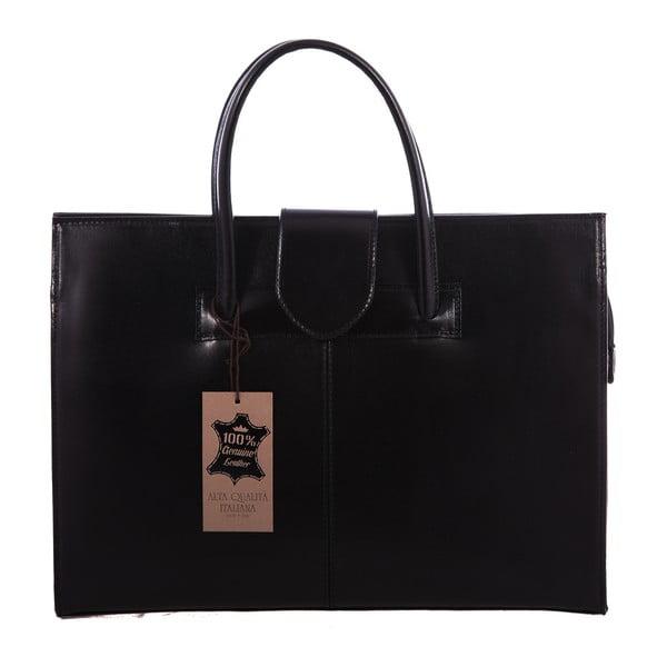 Černá kožená taška Paola