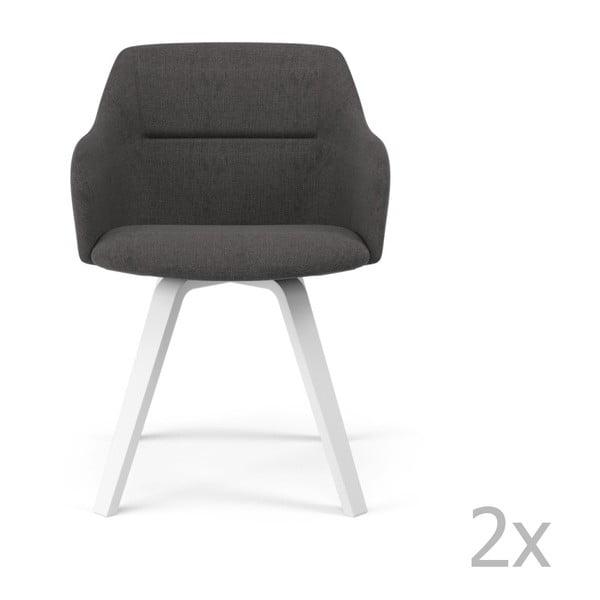 Set 2 scaune Tenzo Sofia Ella, gri antracit