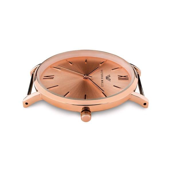 Dámské hodinky s černým koženým řemínkem Victoria Walls Zito